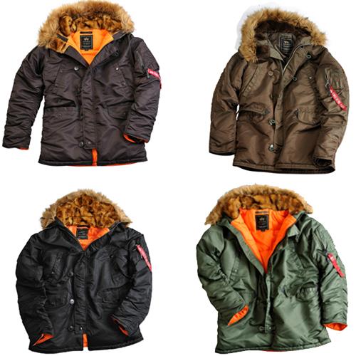 alpha industries n3b vf59 men 39 s winter jacket parka coat. Black Bedroom Furniture Sets. Home Design Ideas