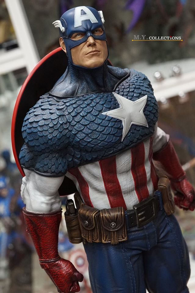 Premium Collectibles : Captain America 1/3 103551373_4009748725777kx3