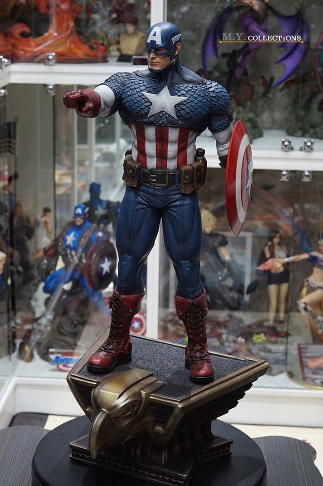 Premium Collectibles : Captain America 1/3 103870427_40097489890cok56