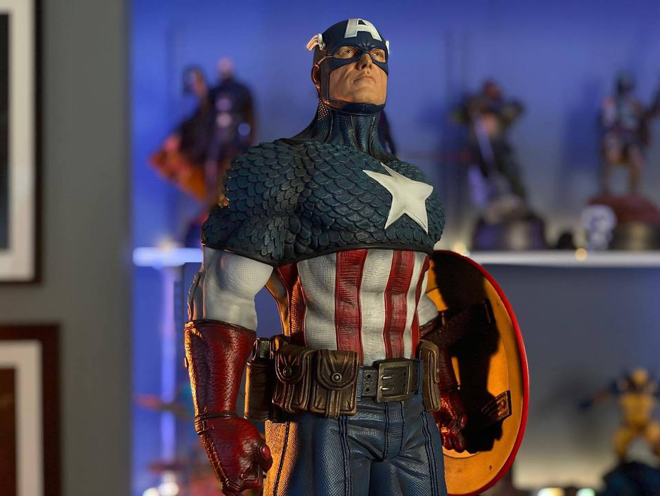 Premium Collectibles : Captain America 1/3 103974206_232470755114jjib