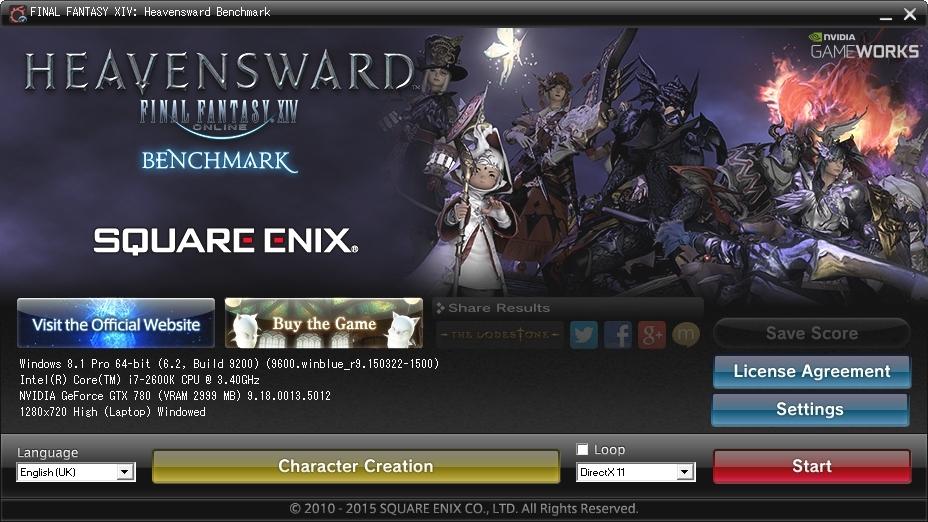FINAL FANTASY XIV: Heavensward Benchmark   guru3D Forums