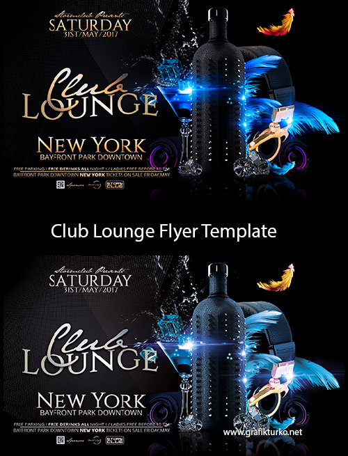 Club Lounge Flyer Template-Psd