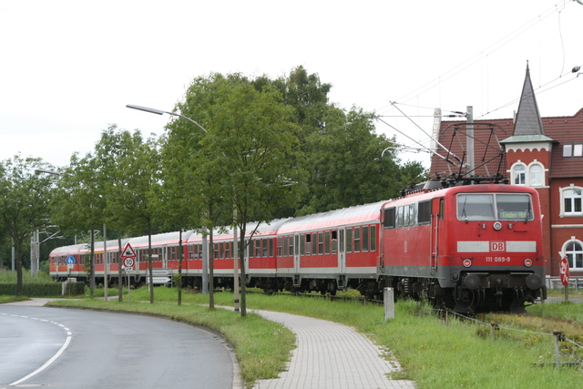 111 089-9 Ausfahrt Emden Außenhafen