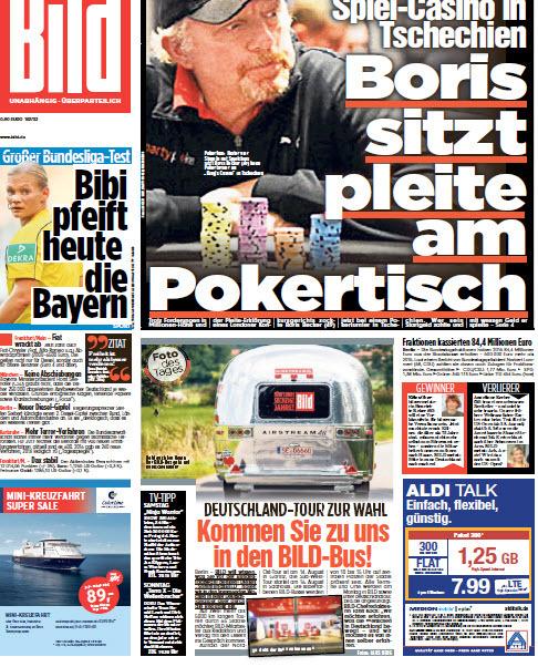 Bild  Zeitung 12 August 2017