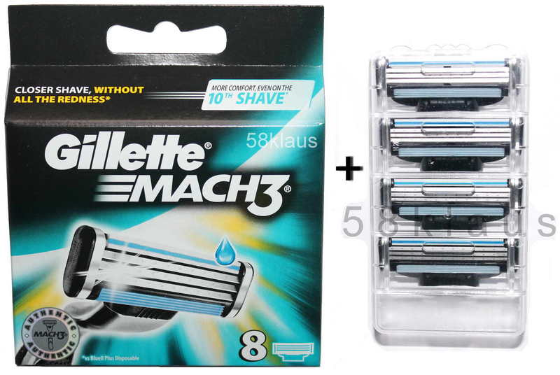 8 Gillette Fusion Klingen im Blister 8 razor blades Gillete Gilette Gilete