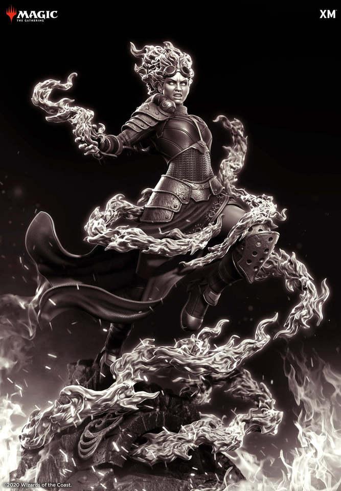 Premium Collectibles : MTG - Chandra Nalaar 1/4 Statue 122443126_27320185736t7krt