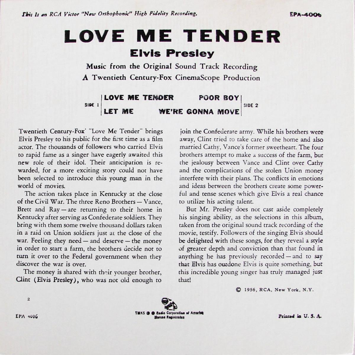 LOVE ME TENDER 122l3r6q
