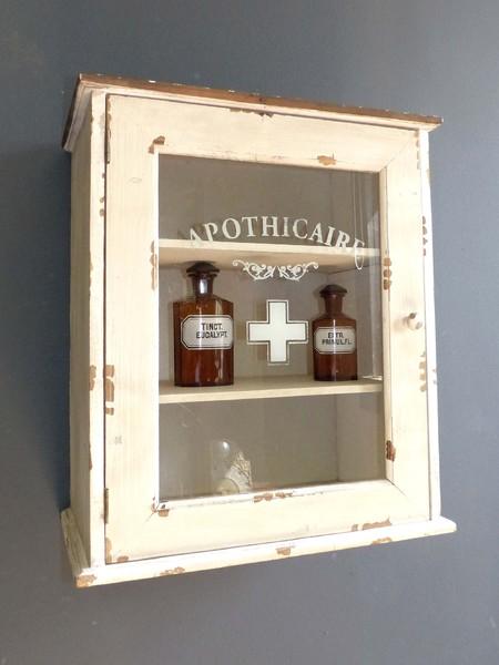shabby chic apothekerschrank vitrine arzneischrank medizinschrank landhaus regal ebay. Black Bedroom Furniture Sets. Home Design Ideas