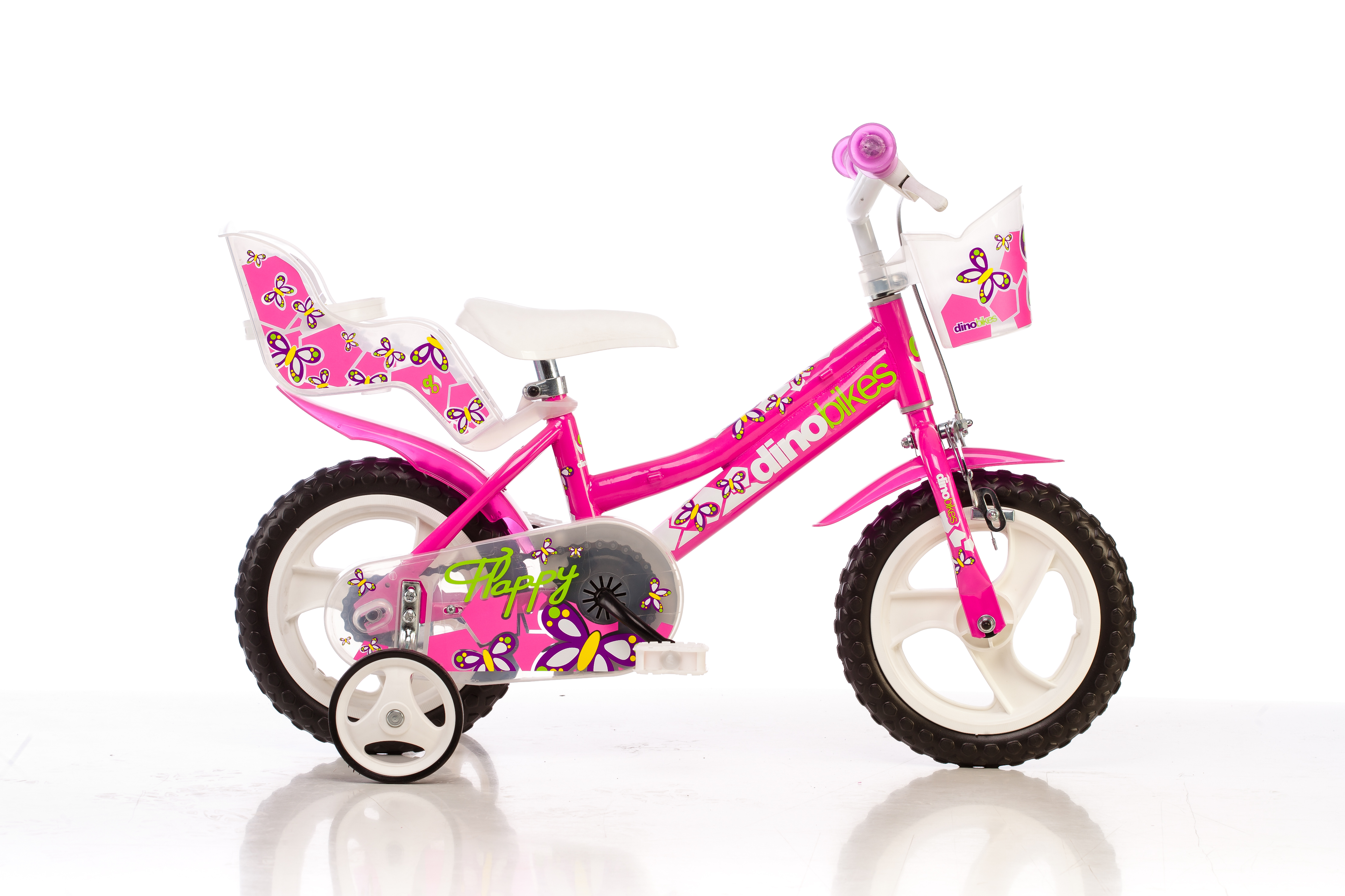 Kinderfahrrad Dino 126R - Pink 12 Zoll