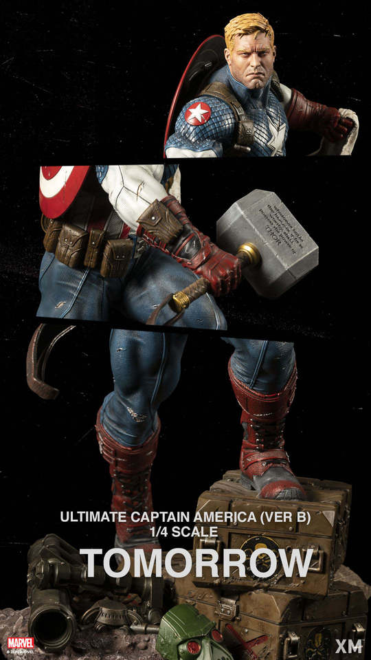 Premium Collectibles : Captain America Ultimate 1/4 Statue 128264389_276961738651fjpm
