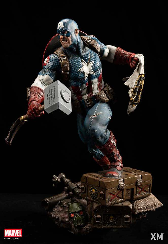 Premium Collectibles : Captain America Ultimate 1/4 Statue 128962728_27682290900mgjls
