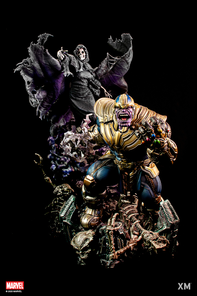 Premium Collectibles : Thanos and Lady Death 12p8kg3
