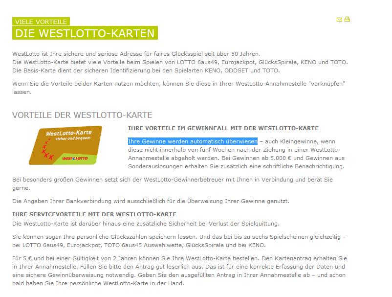 Westlotto Karte.Lotto Totostrategen De Tg Lotto 6 Aus 49 Innovativer