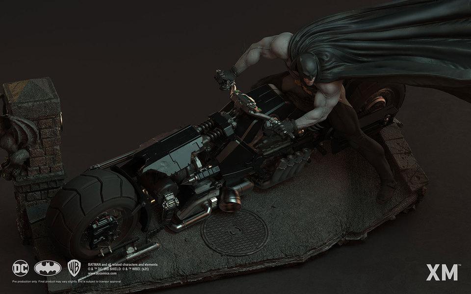Premium Collectibles : Batman White Knight on Bike1/4 Statue 13q5kon