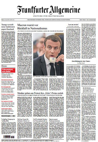 Frankfurter Allgemeine 18 April 2018
