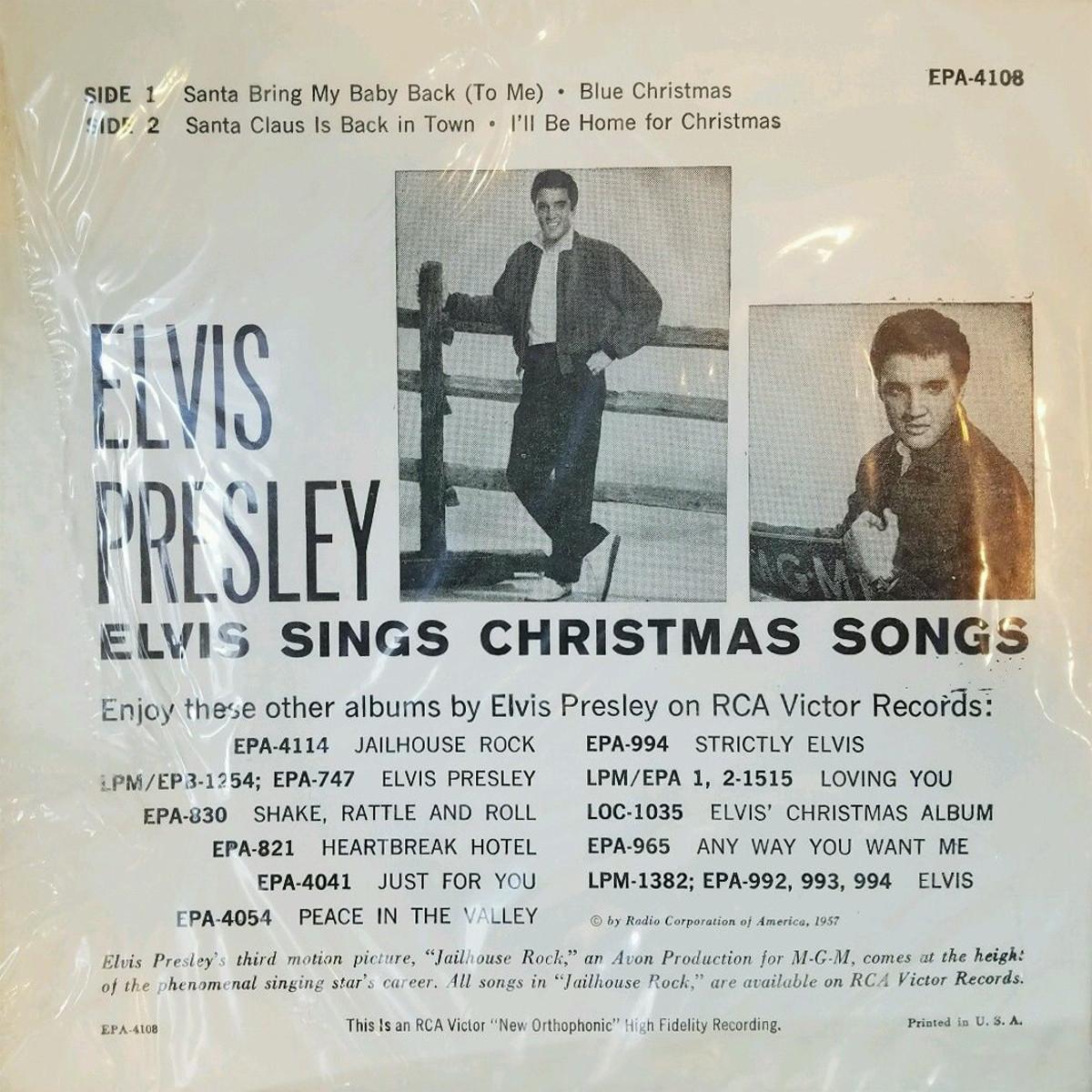 ELVIS SINGS CHRISTMAS SONGS 141ucabs