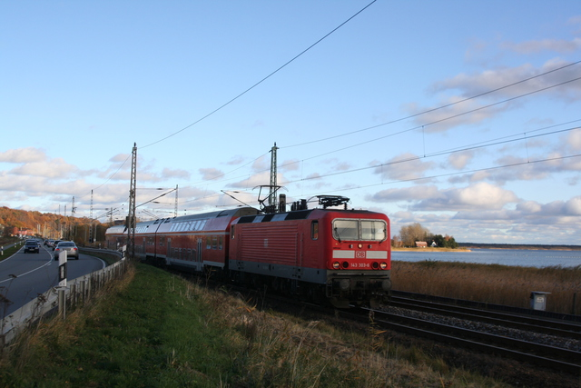 143 303-5 Lietzow (Rügen) am kleinen Jasmunder Bodden