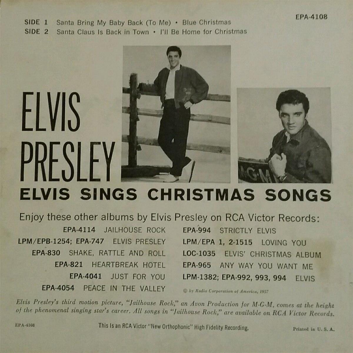 ELVIS SINGS CHRISTMAS SONGS 1445iycq