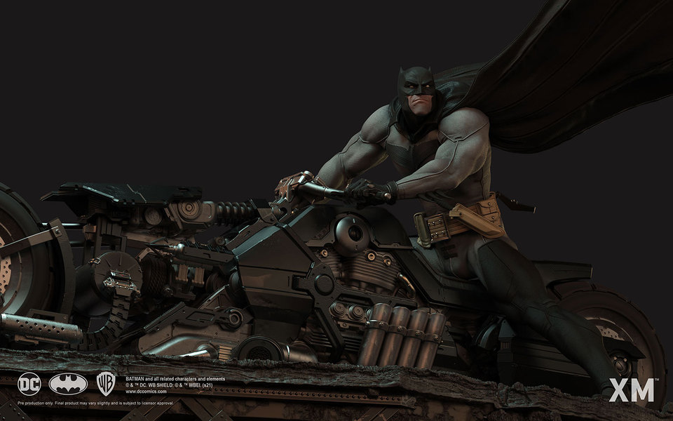 Premium Collectibles : Batman White Knight on Bike1/4 Statue 14a0jkp