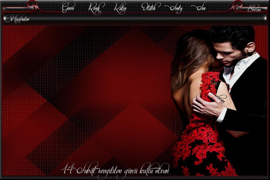 14 Subat Sevgililer Günü Kutlu Olsun Romantik Çift Tema 3