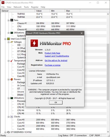 CPUID HWMonitor Pro 1 37 + Portable | Board4All