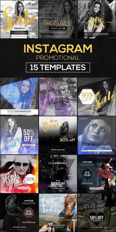 15 Instagram Templates vol.9 Promo 968449