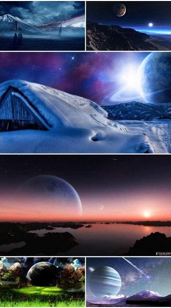 Sci Fi Landscape Wallpaper Pack 4