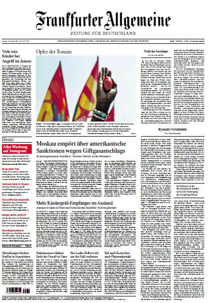 :  Frankfurter Allgemeine 10 August 2018