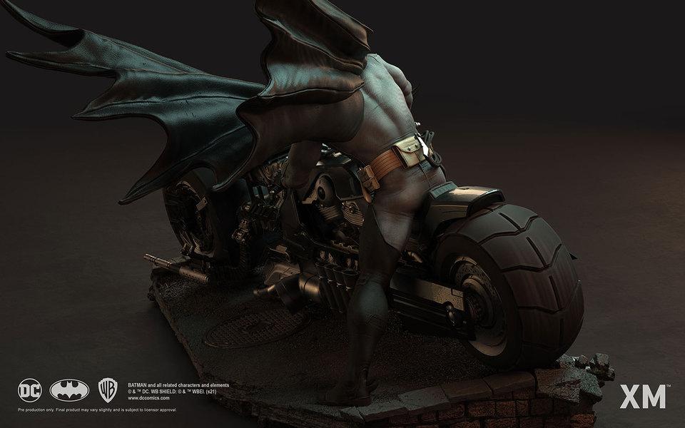Premium Collectibles : Batman White Knight on Bike1/4 Statue 166kkix