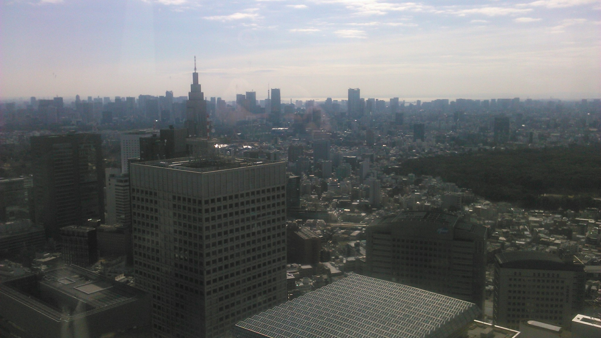 Blick vom Metropolitan Government Building in Shinjuku