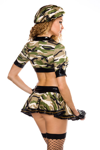 Sexy Army Outfit Soldatin Camouflage Armee Gogo Kostüm Soldat