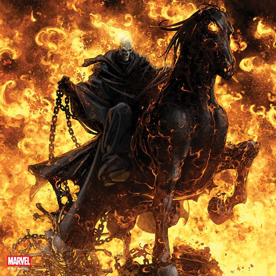 Premium Collectibles : Ghost Rider on Horse 182649158_28784069957zhjnu