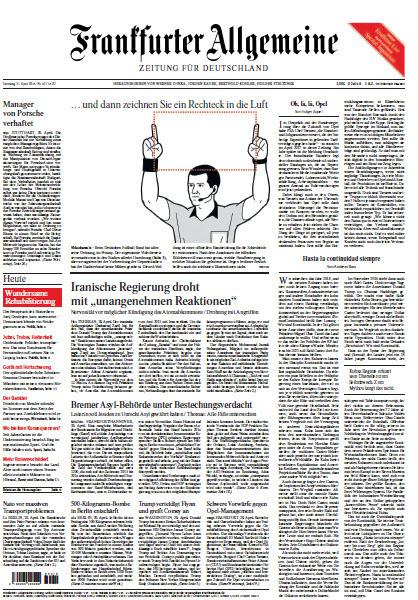 Frankfurter Allgemeine 21 April 2018