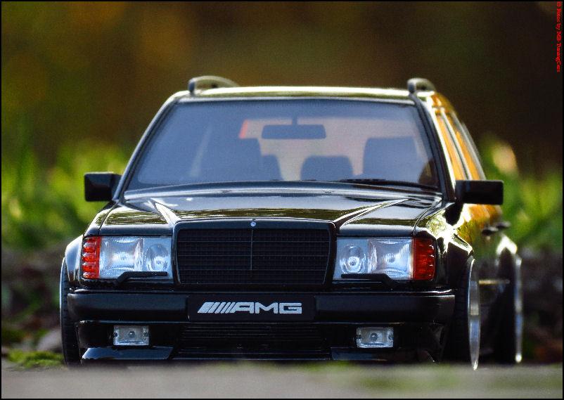 1 18 tuning mercedes benz s124 300te amg schwarz bj for 1988 mercedes benz 300te