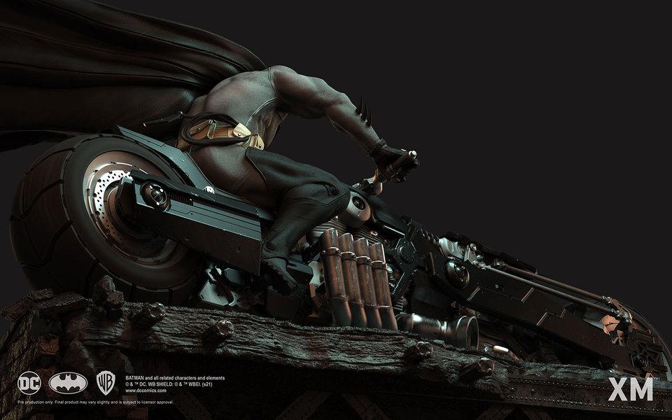 Premium Collectibles : Batman White Knight on Bike1/4 Statue 18waj0d