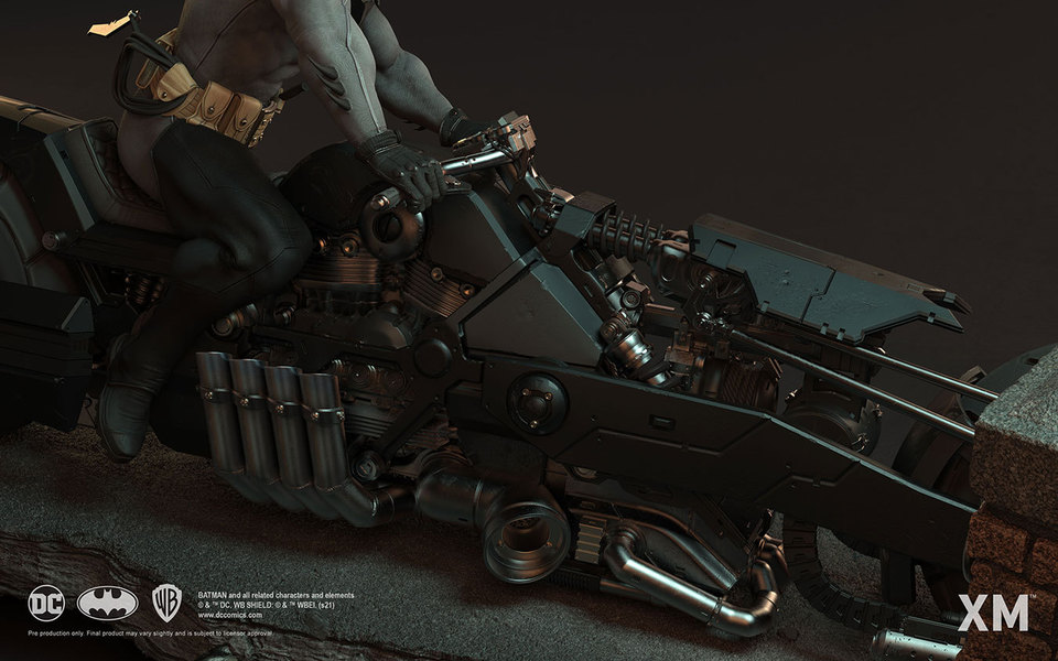 Premium Collectibles : Batman White Knight on Bike1/4 Statue 193rjs5