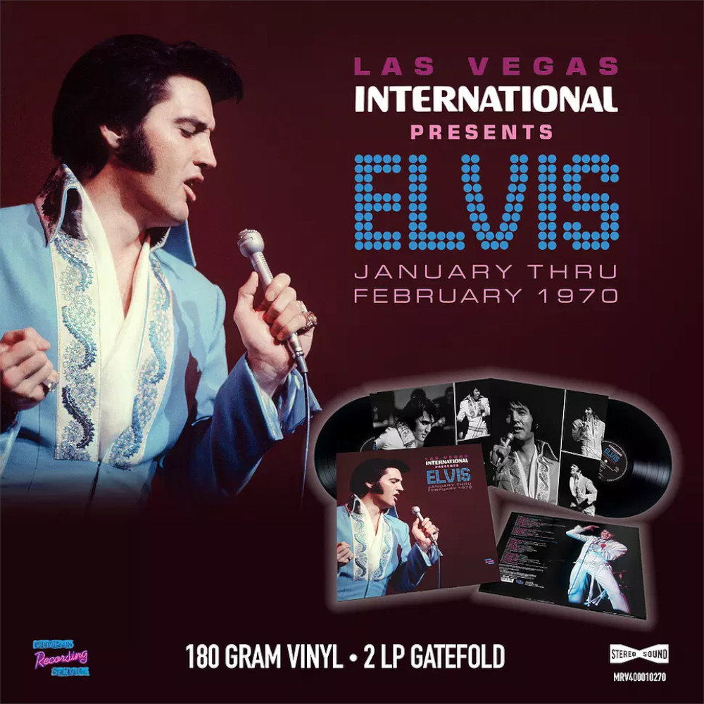 LAS VEGAS INTERNATIONAL PRESENTS ELVIS JANUARY THRU FEBRUAR (DLP) 1970m4k4l