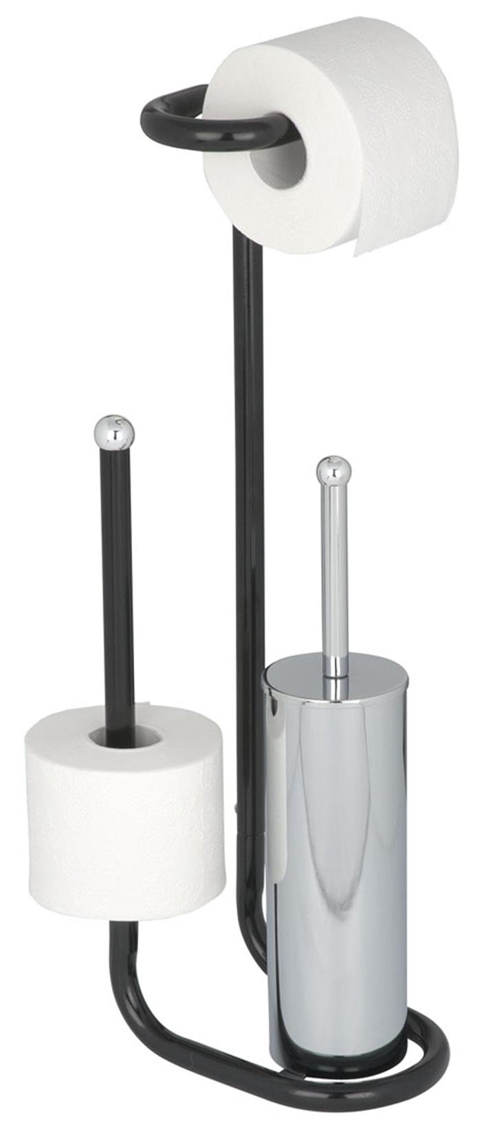 stand wc garnitur st nder b rstenhalter toilettenpapier. Black Bedroom Furniture Sets. Home Design Ideas
