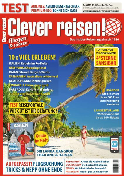 Clever Reisen Magazin November-Januar No 04 2018