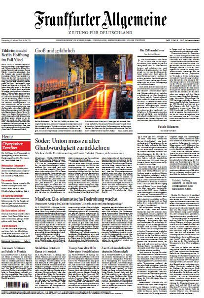 Frankfurter Allgemeine 15 Februar 2018