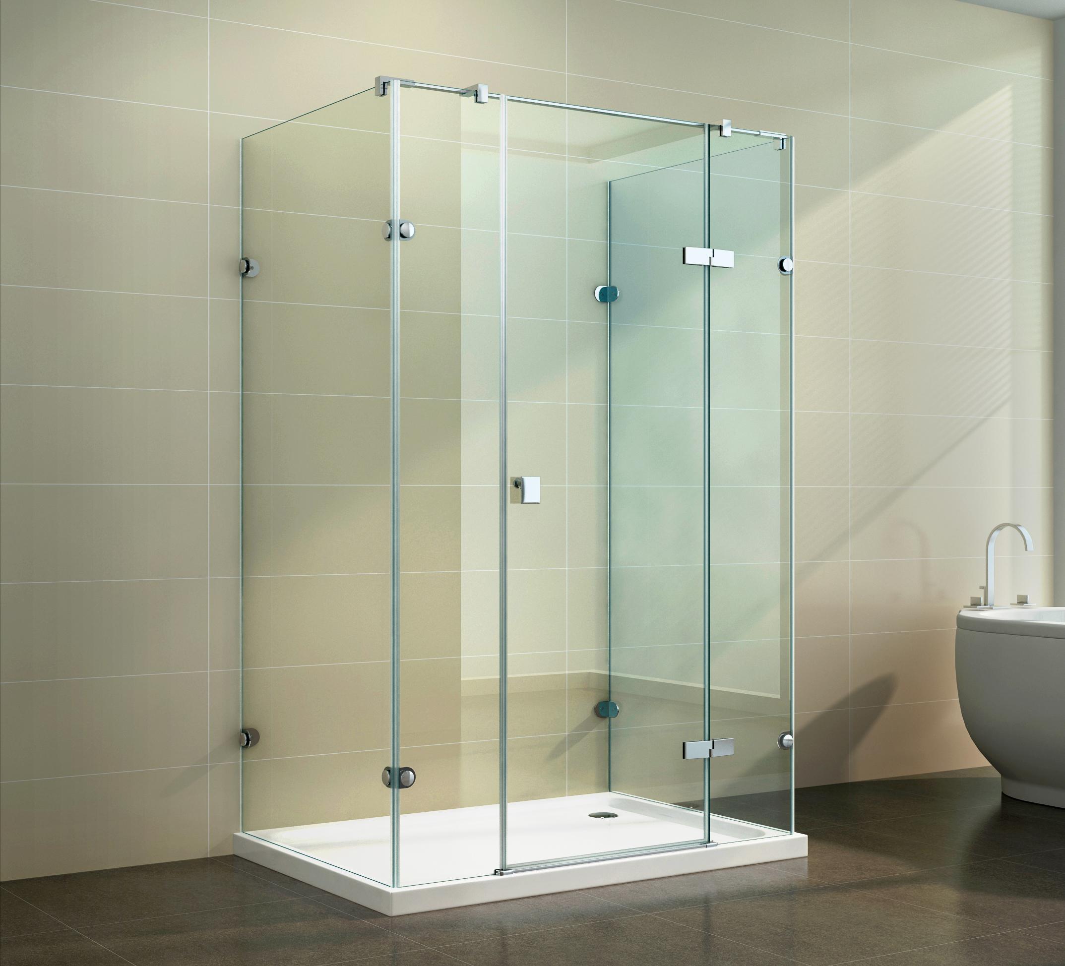 duschkabine dusche u form u duschabtrennung 8mm esg nano beschichtung ebay. Black Bedroom Furniture Sets. Home Design Ideas