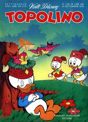 Topolino 1191 - Zio Paperone e l'irascibile farfalla d'oro (09-1978)