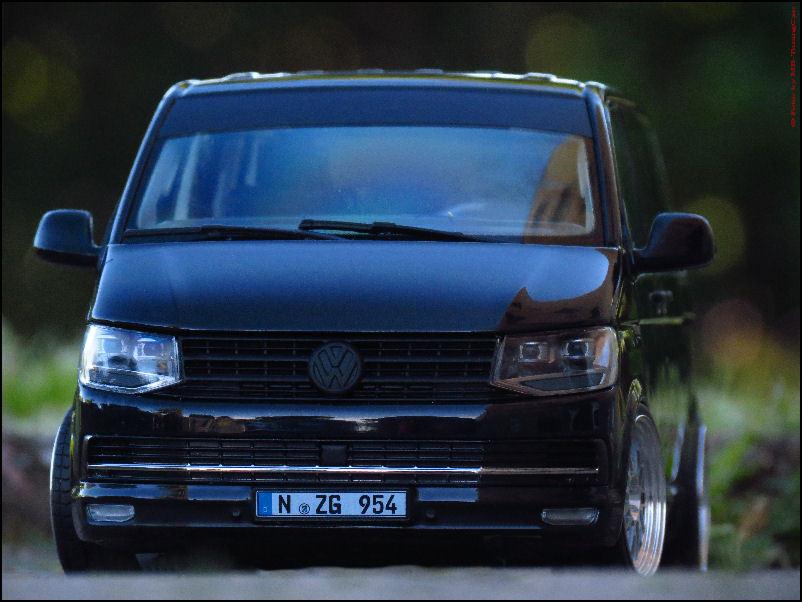 1 18 tuning volkswagen vw t6 multivan highline with bbs hmc kl leemans aluminium rims ebay. Black Bedroom Furniture Sets. Home Design Ideas