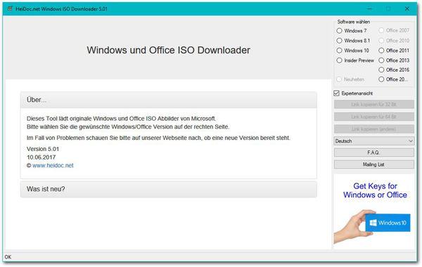 Microsoft Windows ISO Download Tool - Tipps, Tricks und
