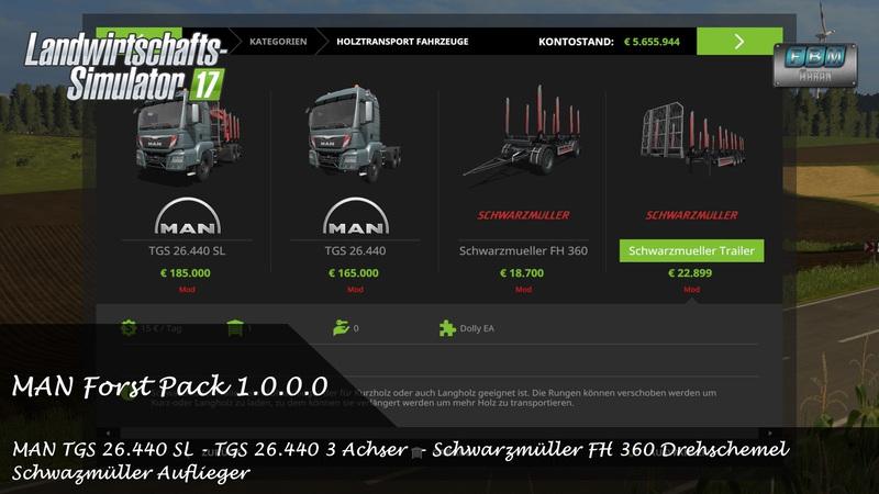 [FBM Team] MAN Forst Pack - Spezial Editon - DH