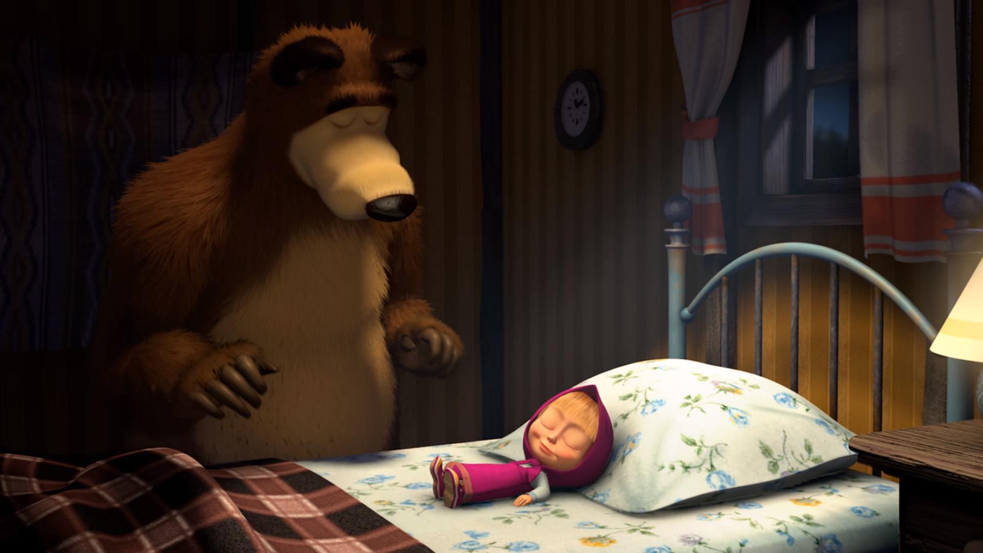 картинки на ночь маша и медведь конце