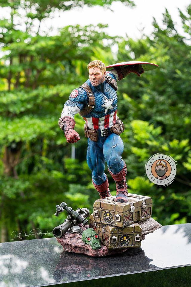 Premium Collectibles : Captain America Ultimate 1/4 Statue 1xikr8