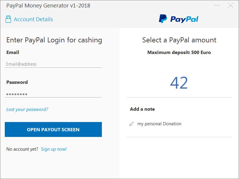 paypal money generator v1