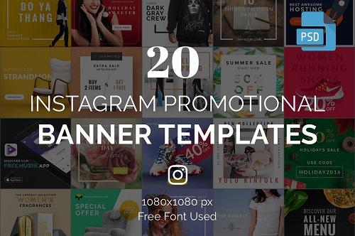 20 Instagram Banner Templates 1095960