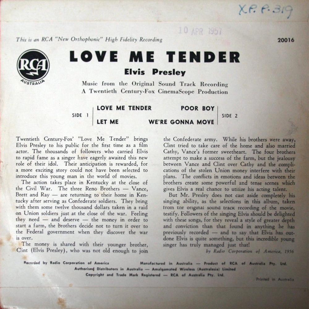 LOVE ME TENDER 20016bmosld